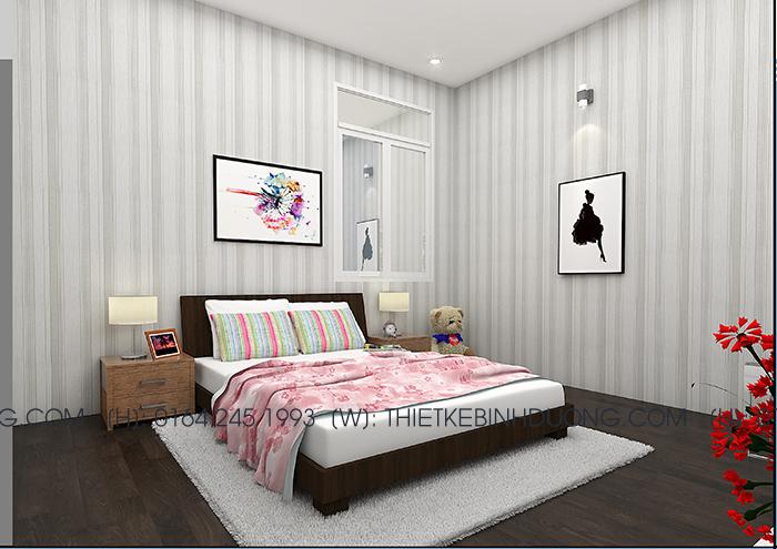 thiết kế phòng ngủ con bd