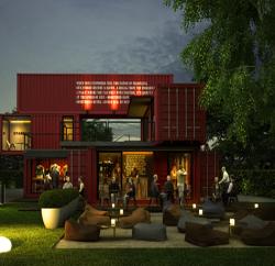 mẫu thiết kế shop cafe bằng container tại bình dương