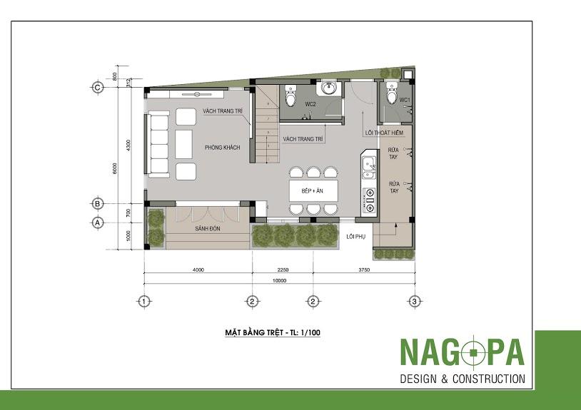 thiết kế nhà phố đẹp tại định hòa nagopa 01