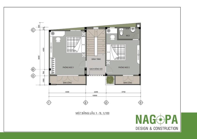 thiết kế nhà phố đẹp tại định hòa nagopa 02