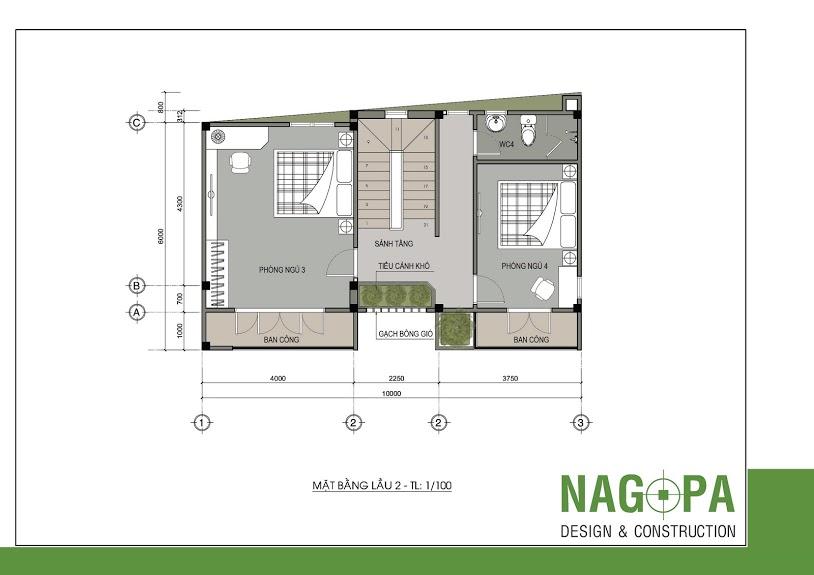 thiết kế nhà phố đẹp tại định hòa nagopa 03