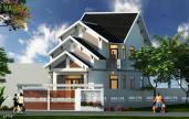 thiết kế nhà 1 trệt 1 lững mái thái xây dựng nagopa