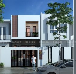 thiết kế nhà phố anh dũng 4,5x16 tại tân uyên 02