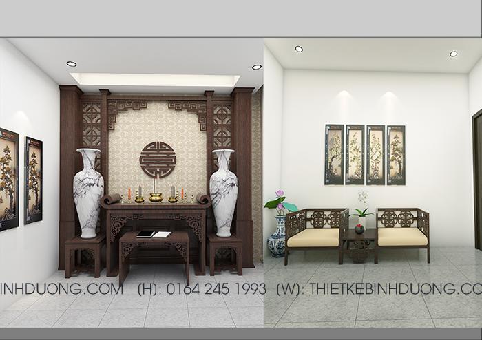 thiết kế phòng thờ nhà biệt thự tại bình dương