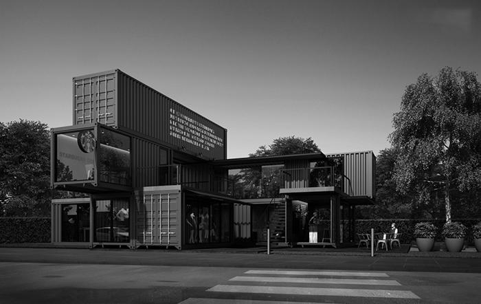 mẫu thiết kế shop cafe bằng container tại thủ dầu một