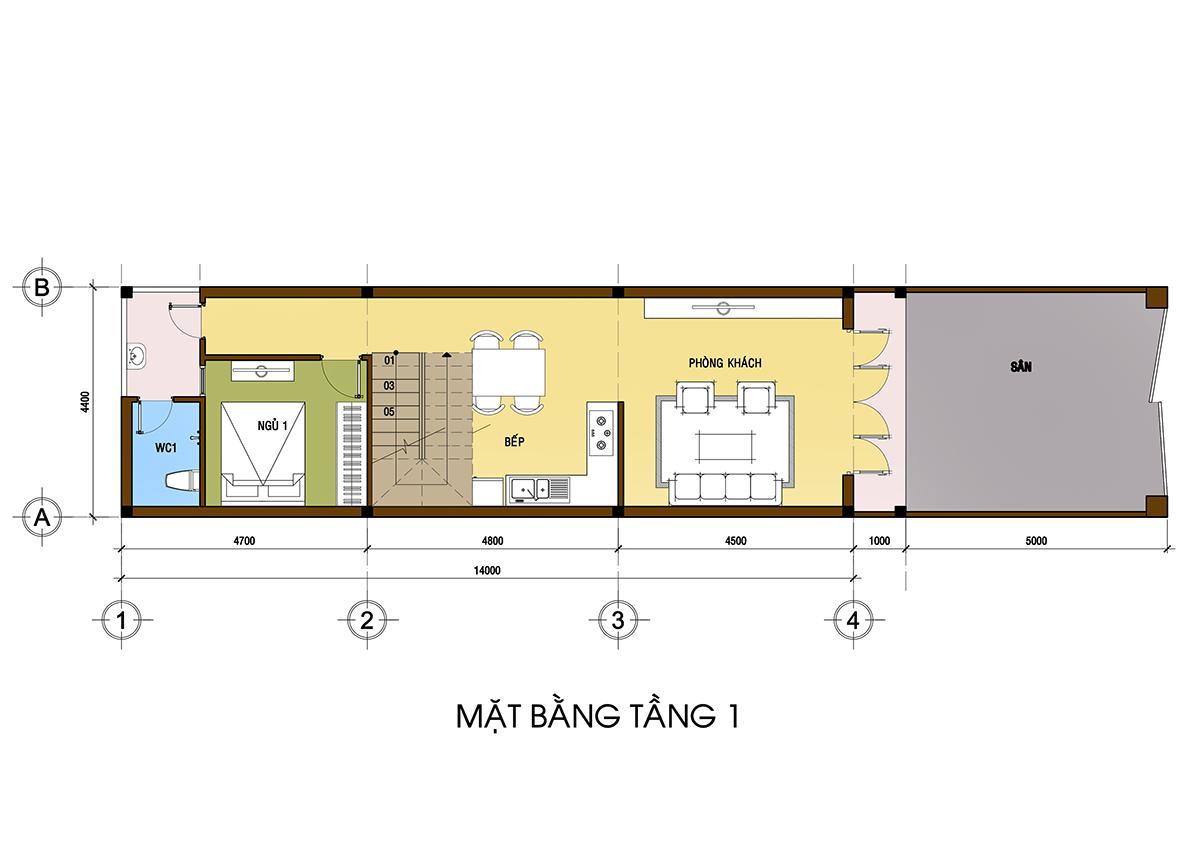 Thiết kế nhà phố 2 tầng đẹp tại thủ dầu một bình dương 02