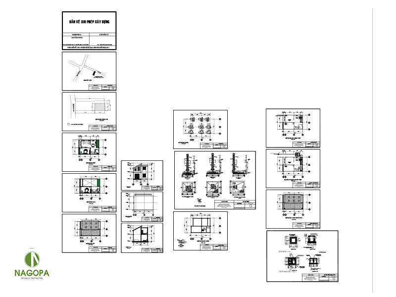 bộ bản vẽ xin phép xây dựng nhà biệt thự