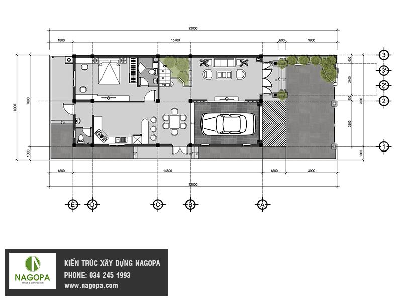 mẫu biệt thự 2 tầng mái thái tại Bình Dương
